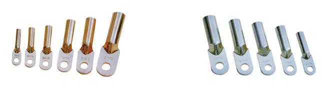 dl系列铝接线端子采用(l3)铝棒料压制,dt系列铜接线端子采用(t2)铜棒